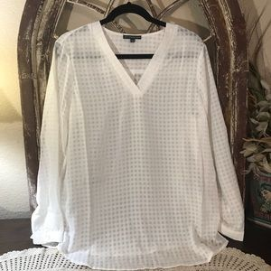Adrianna Papell  Blouse  Color  Off White  Large